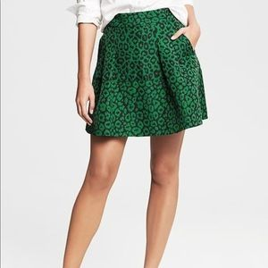 Banana Republic Emerald Green Skirt